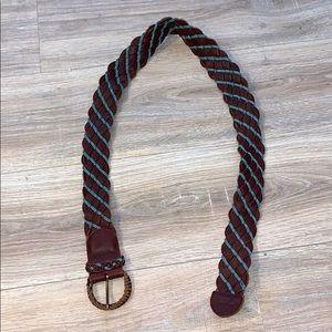 Hollister brown 100% genuine weaver leather belt